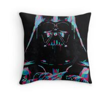 Neon Vader Throw Pillow