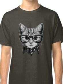 ETOSELL Retro Lady CrewNeck Short Sleeve T-Shirt Cute Cat Print Loose Tops Classic T-Shirt
