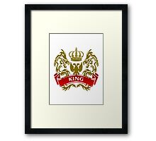 Fit For A King Coat-of-Arms Framed Print