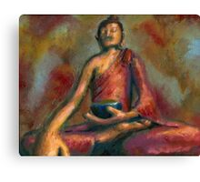 Looking Up To The Buddha Canvas Print