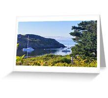 Boats Between Islands Greeting Card