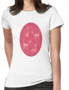 The Many Moods of Miss Kitty Womens Fitted T-Shirt