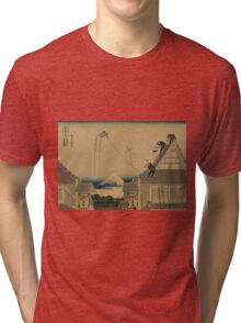 Koto suruga-cho mitsu miseryakuzu - Hokusai Katsushika - 1890 Tri-blend T-Shirt