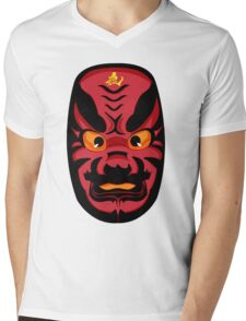 ONI SAMA Mens V-Neck T-Shirt