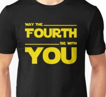 May The Fourth Be With You - Yellow/Dark Parody Design for Geeks Unisex T-Shirt