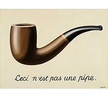 Ceci n' est pas une pipe by Magritte Photographic Print