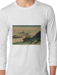Koshu inume-toge - Hokusai Katsushika - 1890 Long Sleeve T-Shirt
