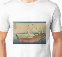 Kazusa no kairo - Hokusai Katsushika - 1890 Unisex T-Shirt