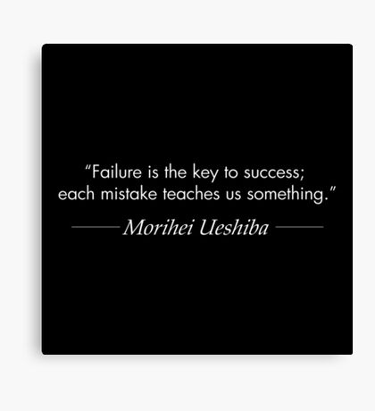 Failure is the Key to Success (White) Canvas Print