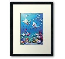Pokemon underwater Framed Print