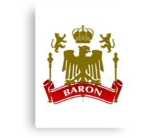 Fit For A Baron Coat-of-Arms Canvas Print
