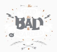 THE GOOD THE BAD AND THE BEARDED One Piece - Short Sleeve