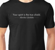 Your spirit is the true shield (White) Unisex T-Shirt