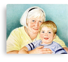 Portrait  of Sandra and Will Canvas Print