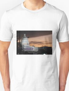 United States Capitol Building at Dusk Unisex T-Shirt
