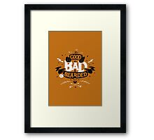 THE GOOD THE BAD ANS THE BEARDED full orange Framed Print