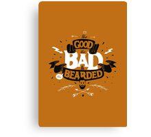 THE GOOD THE BAD ANS THE BEARDED full orange Canvas Print
