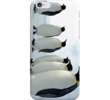 Lined up Emperor Penguins iPhone Case/Skin