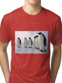 Lined up Emperor Penguins Tri-blend T-Shirt