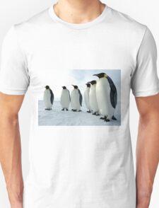 Lined up Emperor Penguins Unisex T-Shirt