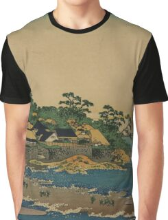 Enoshima in Sagami Province - Hokusai Katsushika - 1890 Graphic T-Shirt