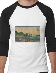 Enoshima in Sagami Province - Hokusai Katsushika - 1890 Men's Baseball ¾ T-Shirt