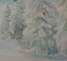 Winter In Gyllbergen Merry Christmas blue text Sticker
