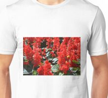 Red flowers pattern Unisex T-Shirt