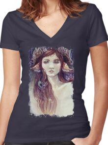 Forest Guardian  Women's Fitted V-Neck T-Shirt