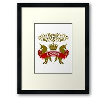 Fit For A Lord Coat-of-Arms Framed Print