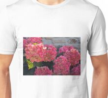 Pink flowers natural background Unisex T-Shirt