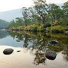 Dusk over the Thredbo River by Harry Oldmeadow