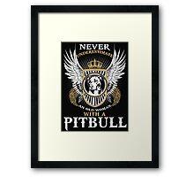 Pit bull shirt Framed Print
