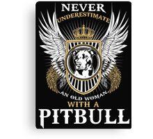 Pit bull shirt Canvas Print