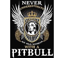 Pit bull shirt Photographic Print