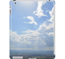Hills from Assisi and cloudy sky iPad Case/Skin