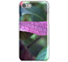 Green and purple leaves iPhone Case/Skin