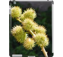 Natural green branch with spikes iPad Case/Skin