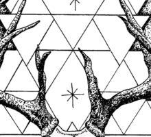 Decay - Geometric Skull Sticker