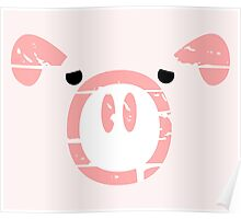 Cute Pink Pig  Poster