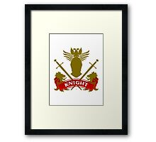 Fit For A Knight Coat-of-Arms Framed Print