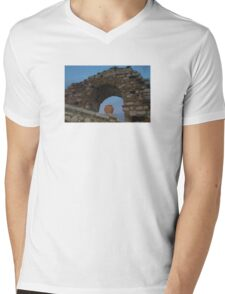 Sicilian Pottery Decor Mens V-Neck T-Shirt