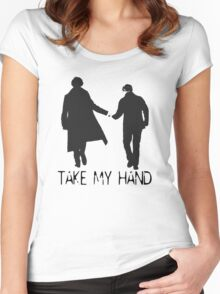 Take My Hand Women's Fitted Scoop T-Shirt