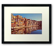 City of Girona in Spain Framed Print