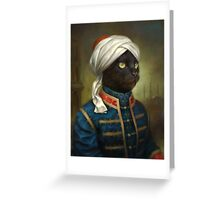 The Hermitage Court Moor Cat  Greeting Card