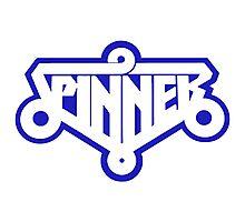 SPINNER - BLADE RUNNER FLY CAR (BLUE) Photographic Print