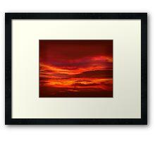 Evening red sky  Framed Print
