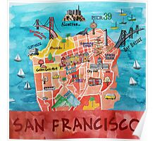 San Francisco Illustrated Map Poster