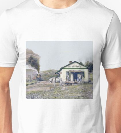 Green Cove - Afternoon Train Arrives Unisex T-Shirt