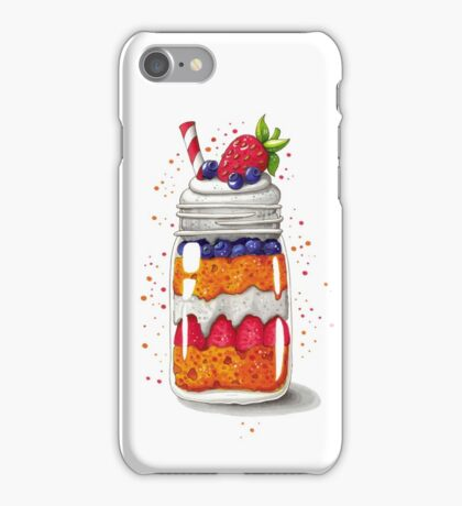 Strawberry and Blueberry shortcake in a jar iPhone Case/Skin